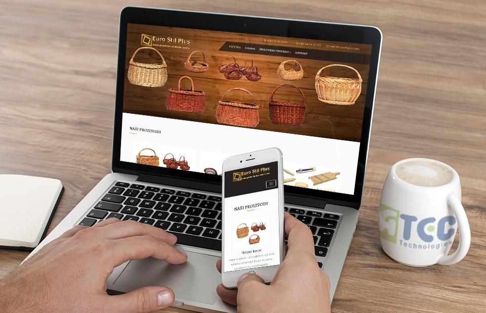 Websajt Eurostil plus proizvodi od drveta