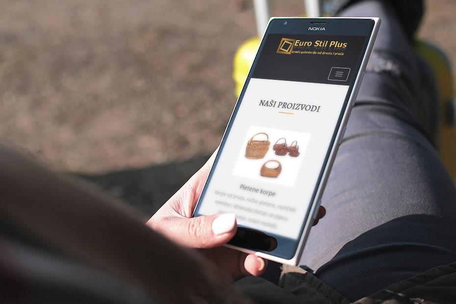 Web sajt za proizvodnju drvene galanterije