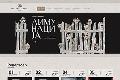 Izrada web sajta Narodno pozoriše Niš