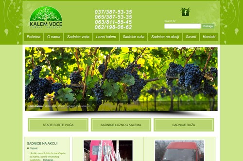 Veb sajt Kalem i voće