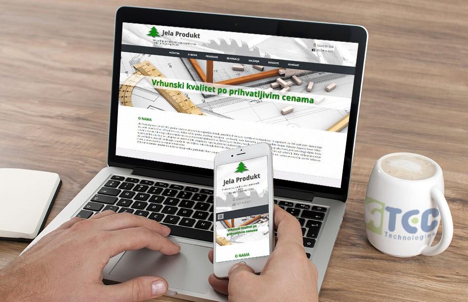 Jela produkt web sajt