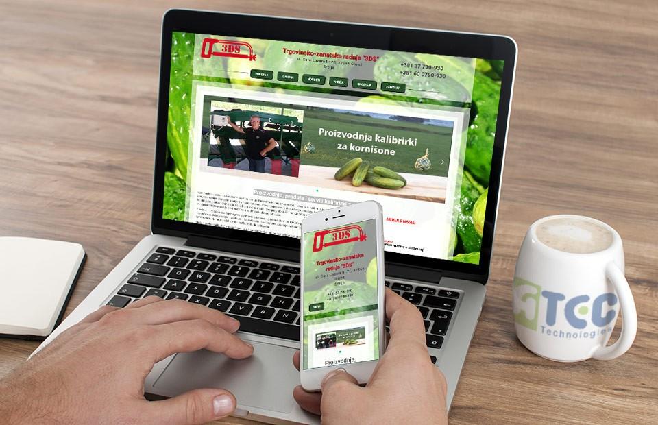 Web sajt za prodaju kalibrirki kornišona