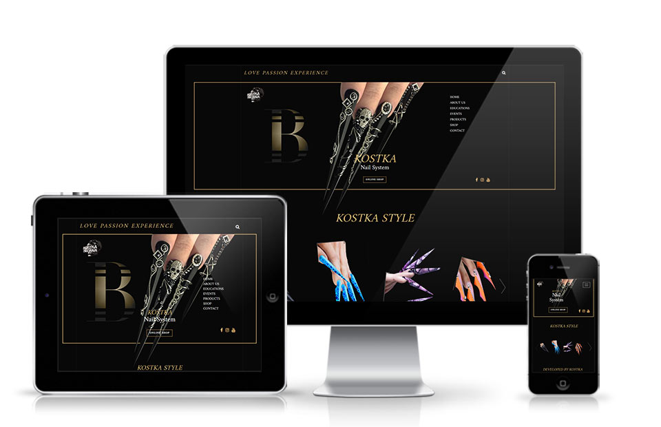 Kosta Extreme Nail website