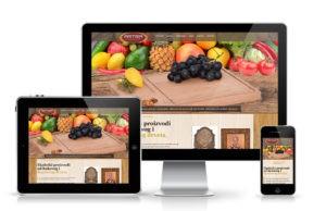 Veb sajt proizvodi od drveta