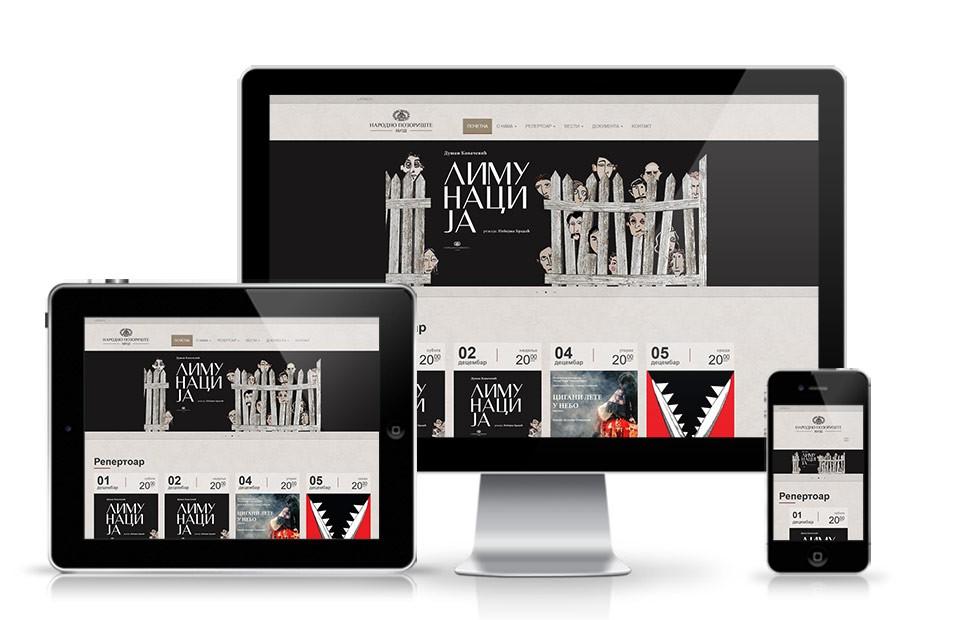 Izrada web sajta Pozorište Niš