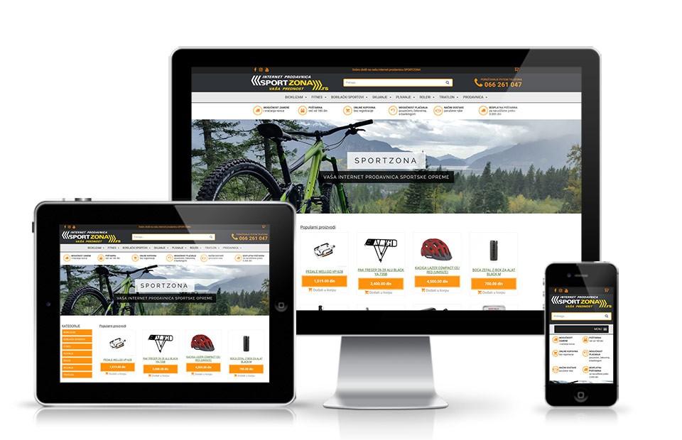 Izrada web prodavnice za prodaju sportske opreme
