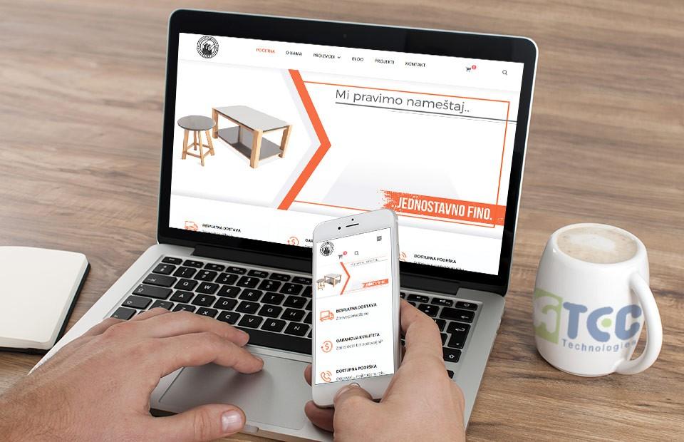 Web sajt - proizvodnja namestaja