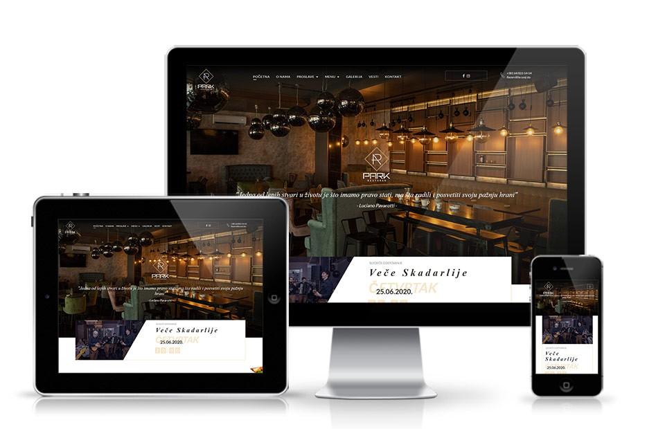 Veb sajt krusevac Restoran park