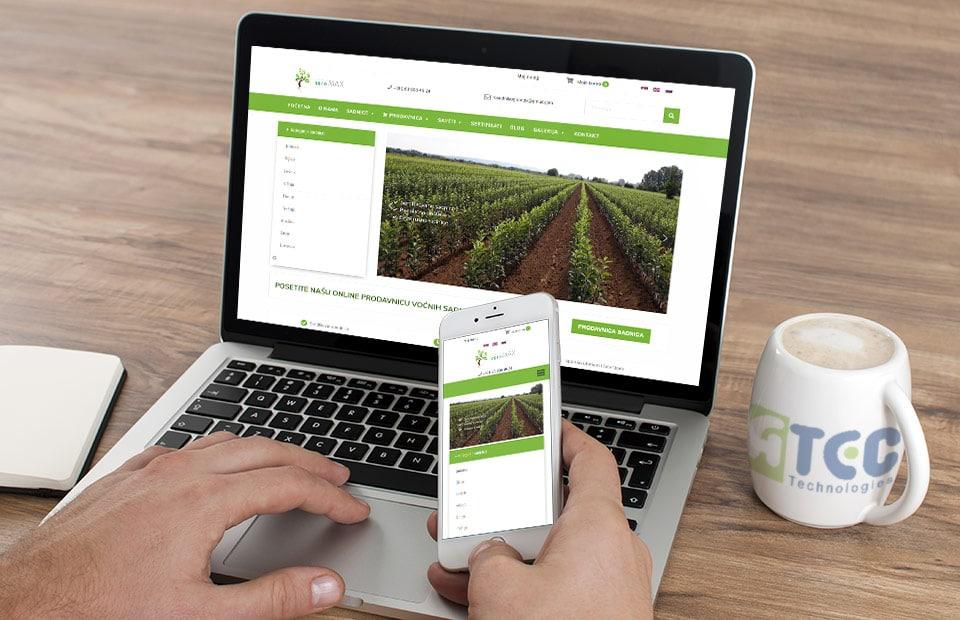 Veb sajt za rasadnik sadnica voca