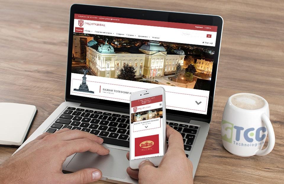 Izrada web sajta za Opštinu Kruševac