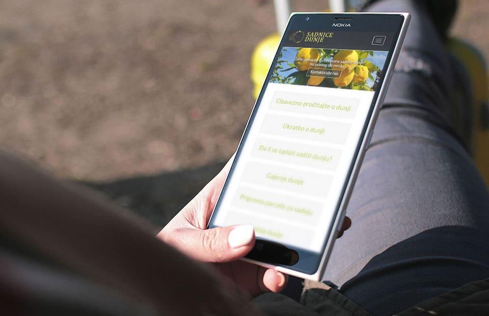 Izrada web sajta za sadnice